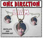 "LIAM PAYNE ""ONE DIRECTION"" Band Photo Charm Necklace & Earring Set Great Gift"