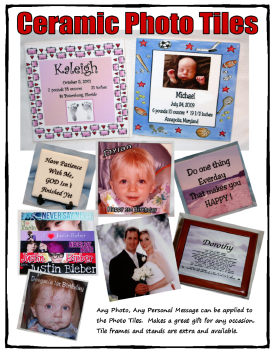 Personalized Ceramic Photo Tiles
