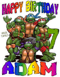 NINJA TURTLES Birthday T-Shirt