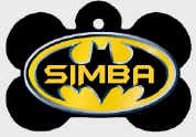 PET TAG - BATMAN -  - Any Name & Info - printed on both sides